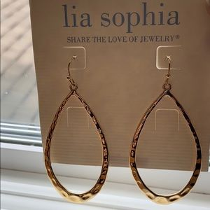 Lia Sophia Gold Dangle Earrings